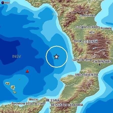 Scossa di terremoto al largo del Tirreno
