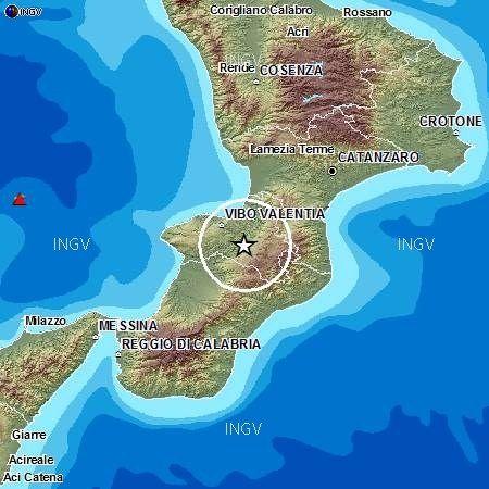 Scossa di magnitudo 2.7 nelle Serre vibonesi
