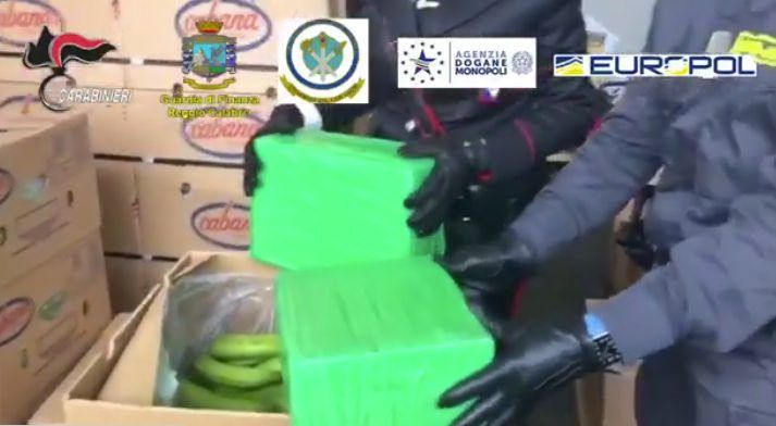 Una tonnellata di cocaina nascosta tra le banane, sequestro record di droga al porto di Gioia Tauro – VIDEO