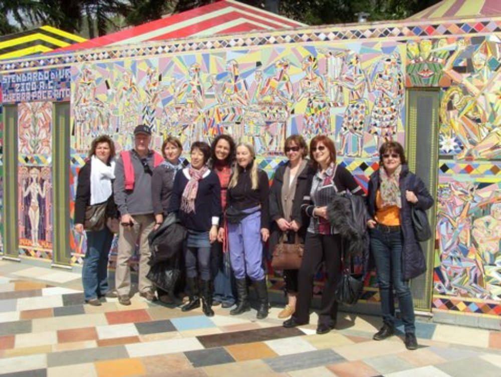 «Musaba ci ha lasciati di stucco». Il parco artistico di Mammola strega i francesi