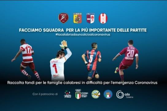 """Coronavirus, le quattro calabresi di Serie C in campo con il """"biglietto solidale"""""""