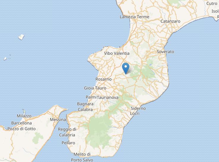Terremoto in Calabria, scossa di magnitudo 3.6 nel Vibonese