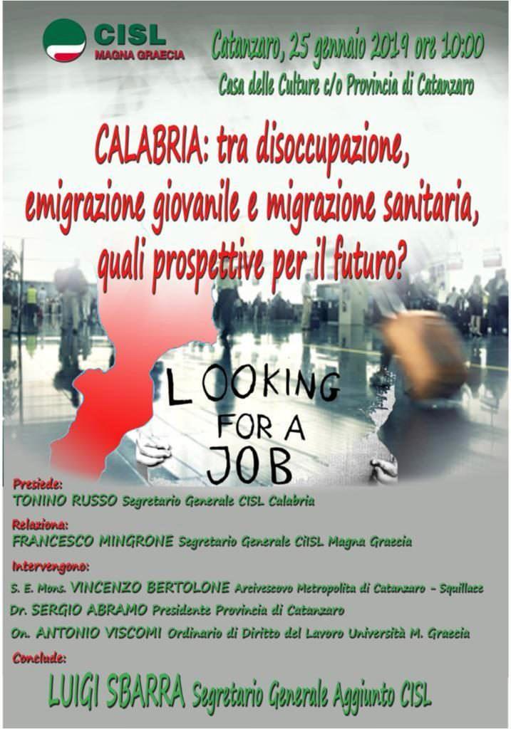 Russo (Cisl): «C'è la necessità di affrontare il futuro della Calabria»