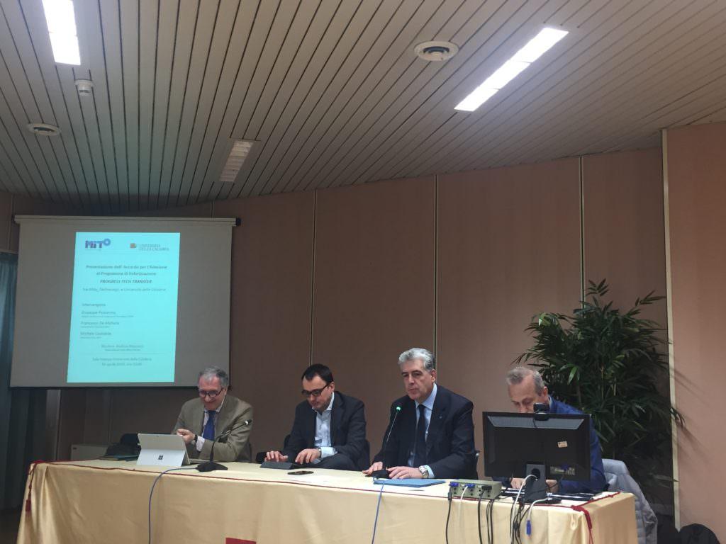 Unical, firmato accordo con MiTo Technology per investire sulla ricerca italiana