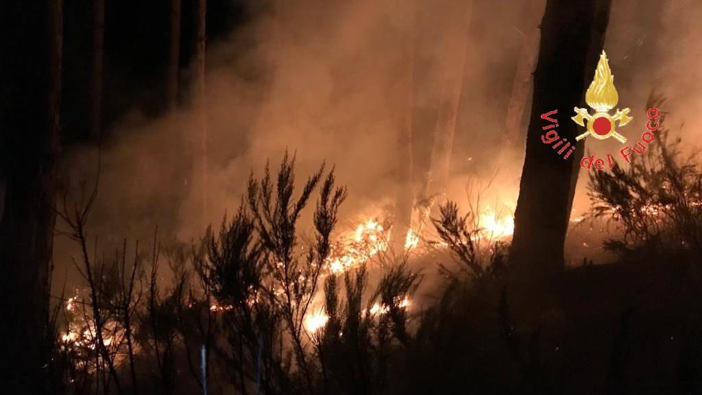 Notte di fuoco nel Catanzarese, tre vasti incendi a due passi dalle abitazioni – FOTO E VIDEO