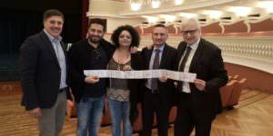 L'abbonamento per un palco del Politeama donato alle Politiche sociali del Comune