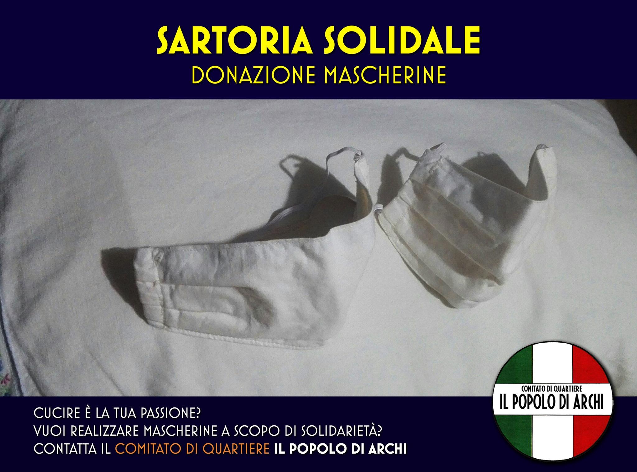 Mascherine solidali Archi Reggio