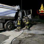 incendio chiaravalle camion